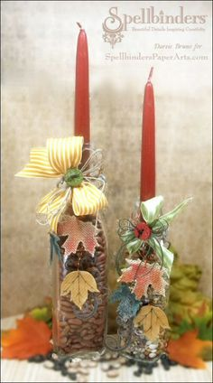 View Blog Post | Spellbinders - Fall Candlesticks