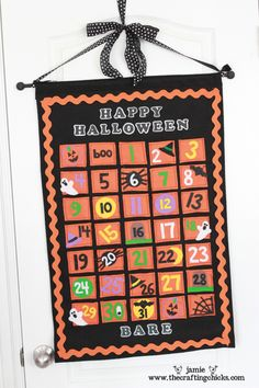 Halloween countdown calendar DIY holiday, halloween felt, halloween advent, christmas countdown, idea, craft, countdown calendar, advent calendars, halloween countdown