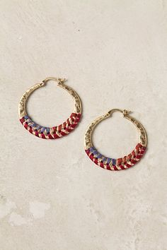 Anthro Stitched Ombre Hoops