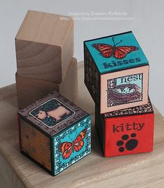 Blocks and Inchies - Inchies and Blocks inchies wood