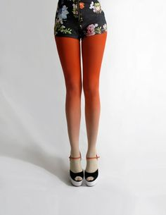 I want these!! Ombre Tights.