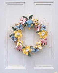 Free Spring Wreath Crochet Pattern