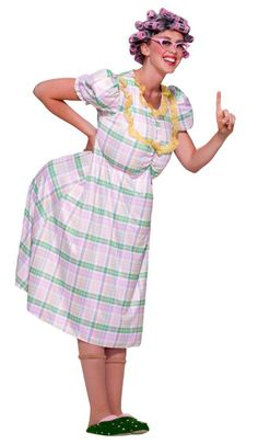 Exactly what I'm going for. Funny Old Lady Outfit Adult Halloween Party Costume