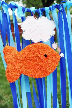 birthday parties, craft activities, goldfish piñata, sea party, goldfish party, first birthdays, parti idea, ocean party, kid