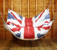 Gigantic union jack bean bag chair? Yes, please.