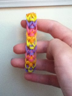 """Zipline"" Rainbow Loom Rubber Band Bracelet. I have a rainbow loom so I'm really gonna need to try this.:)"
