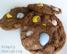 cadbury mini-egg chocolate cookies