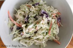 Homemade Creamy Coleslaw. Easy and quick recipe much better than you can buy.