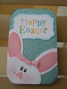 handmade Easter card ... peekaboo bunny with oval punches - punch art - bjl ... cute ... Stampin'Up!