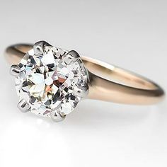 Antique Solitaire Engagement Ring