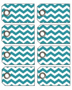 Chevron Gift Tags with Eyelets!
