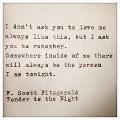 F. Scott Fitzgerald, I love you.