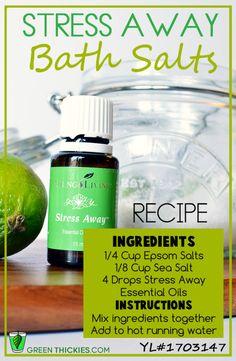 Stress Away Bath Salts Recipe  www.fb.com/HealingLotusAromatherapy