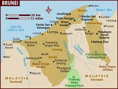 Map of Brunei.