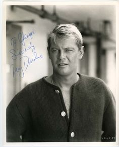 Troy Donahue...and Troy was the other blonde celebrity that I thought was very handsome.