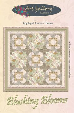 """Blushing Blooms"" Pat Bravos quilt pattern.   Note to self:  Use this for Drunkards Path  Quilt for E.  Made of Dots"