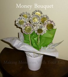 Money Bouquet - the perfect money gift idea for the person who has everything.