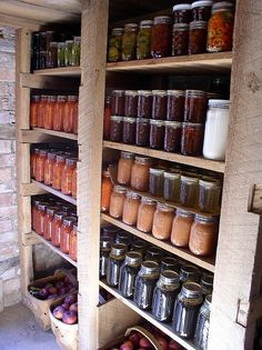 pantri, canning jars, food storage, root cellar, basement