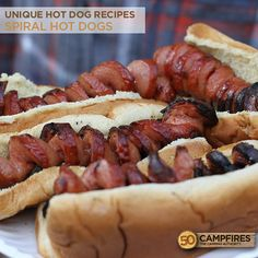 Unique Hot Dog Recipes: Spider and Spiral Dogs - 50 Campfires
