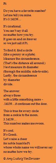 The Poem Farm: It's Pi Day! Celebrate 3.14159.........
