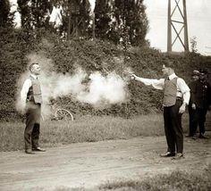 Testing The Very First Bulletproof Vest