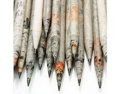 Pencils made from recycled newspaper