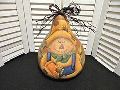 GB Fall pumpkin gourd, hand painted