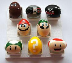Super Mario Bros Painted Easter Eggs