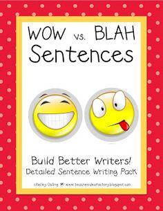 Such a cute way to get kids writing better sentences