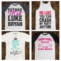 Luke Bryan shirts @Rachel Cochran @Brianna Saddler