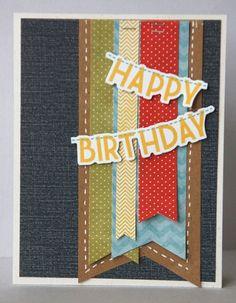 masculin birthday, card inspir, happy birthdays, masculine birthday cards, bucket, challeng, boy birthday, banner, card sketches