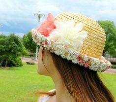 Wholesale Fashionable & Graceful Flower Side Mixed Color Hat  top dresses