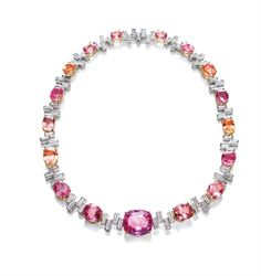 Harry Winston , padparadscha sapphires  I love the colours :)