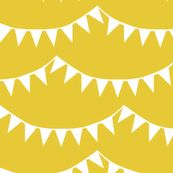 Pennants, Lemon - Sun Soaking by natalie, click to purchase fabric