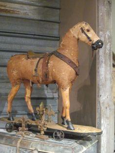 ♞ - antique toy horse
