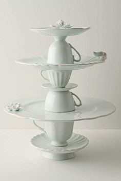 ~ tea service cookie stand from Anthropologie (no longer available in US, but would also make a great DIY project)