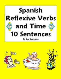 Spanish--Reflexive Verbs on Pinterest | Daily Routines, Spanish and Mr ...