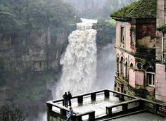 Haunted Hotel and Tequendama Falls, Bogotá , Colombia   photo via paradoxically