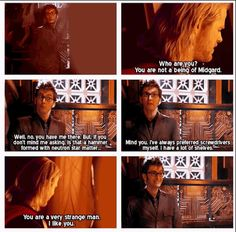 What happens when Thor meets The Doctor.  WHY IS THIS NOT A THING?!