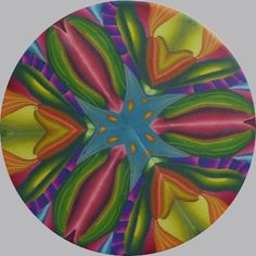 Pendant by Priscilla Lane from Carol Simmons' Master Kaleidoscope Cane Workshop