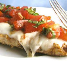 Grilled Balsamic Bruschetta Chicken