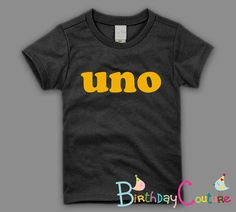 UNO - First Birthday T-shirt - Boy's or Girls - Customize with age of choice. $25.00, via Etsy.