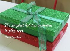 The simplest holiday invitation to play ever! Teach Preschool