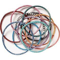 favorite bracelets (made by women in south africa from flip flops). no 2 alike.