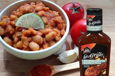 Wild Whiskey Smoked BBQ Easy Baked Beans #FlavourStory