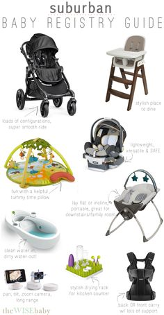 The better than ever, Suburban Baby Registry Guide!