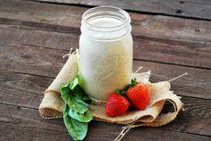 Creamy Feta Strawberry Basil Salad Dressing - 0 Fat and < 25 Calories!