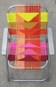 Woven Chair DIY by Smile and Wave