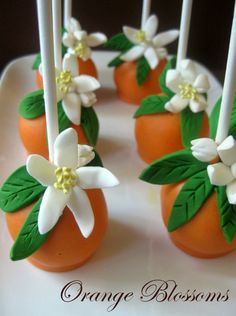 Orange Blossom Cake Pops