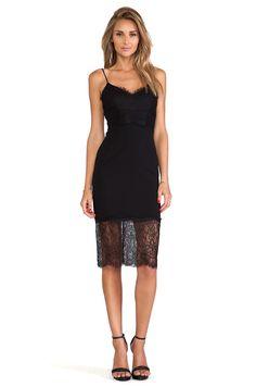NICHOLAS Lace & Silk Cami Dress in Black